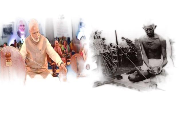 ഗാന്ധിക്ക് പകരം ചര്ക്ക നൂറ്റ് മോദി; ഖാദി ഗ്രാം ഉദ്യോഗ് ഡയറി വിവാദമാകുന്നു