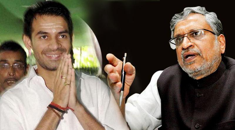 lalu-prasad-yadav-son-tej-pratap-yadav-comment-on-bjp-leader-sushil-modi-1