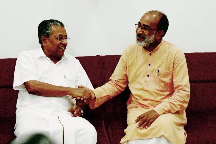 അല്ഫോണ്സ് കണ്ണന്താനം പിണറായി ബന്ധം ബി.ജെ.പിയിലും സി.പി.എമ്മിലും അപസ്വരങ്ങള്