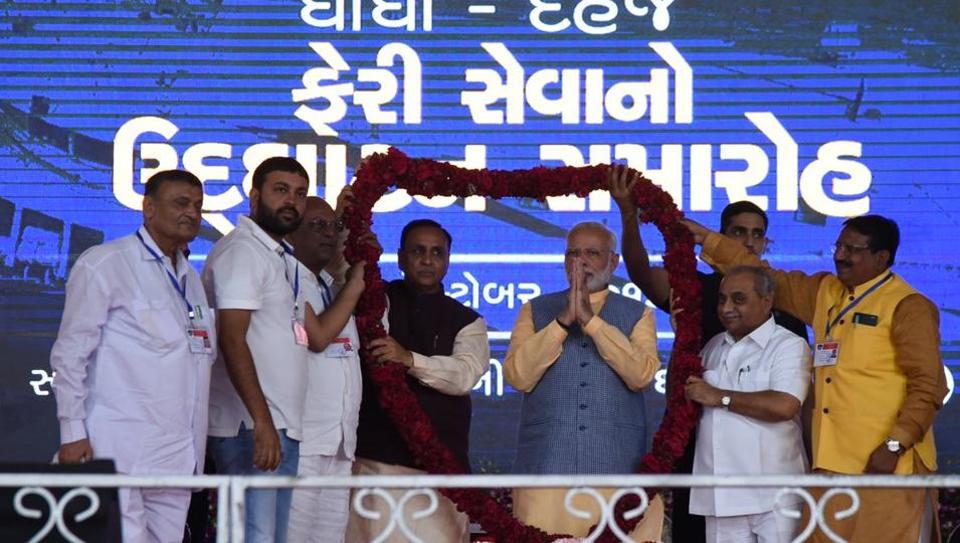 വാഗ്ദാനങ്ങളുടെ കണ്കെട്ടുമായി  മോദി ഗുജറാത്തില് ,1100 കോടിയുടെ പദ്ധതി പ്രഖ്യാപിച്ചു
