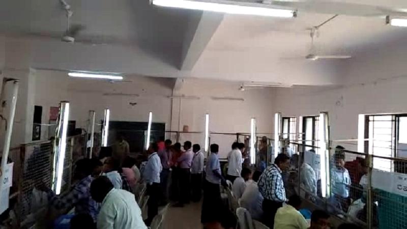 നന്ദേഡ് വങ്ഗാല മുന്സിപ്പല് കോര്പ്പറേഷല് വോട്ടെണ്ണല് പുരോഗമിക്കുന്നു