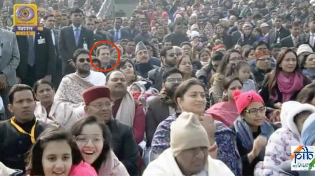 റിപ്പബ്ലിക് ദിന പരേഡ്: രാഹുല് ഗാന്ധി ആറാം നിരയില്; കേന്ദ്ര സര്ക്കാര് നടപടി വിവാദത്തില്