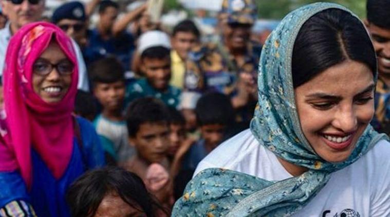 റോഹിന്ഗ്യന് അഭയാര്ത്ഥി ക്യാമ്പില് പ്രിയങ്ക ചോപ്ര, 'ആ കണ്ണുകളില്  ശൂന്യതയാണ് കാണാനാകുക'