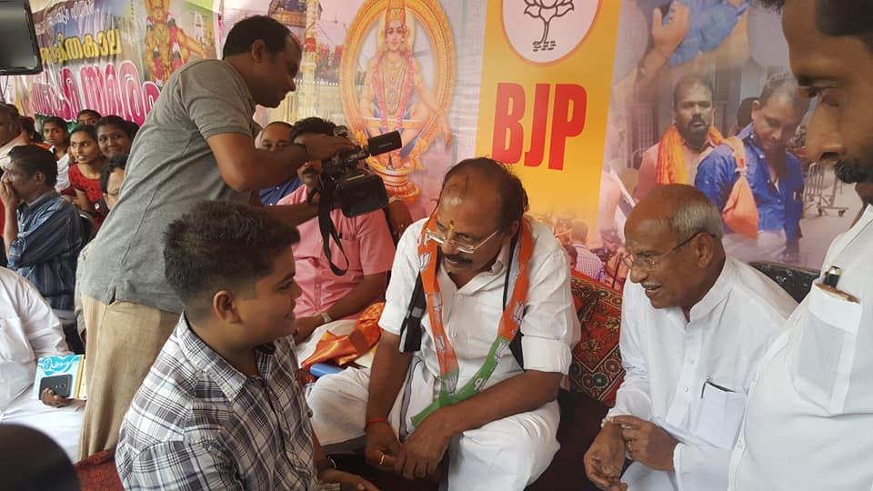 ബി.ജെ.പി ഉപവാസ വേദിയില് വീണ്ടും എം.എം.ലോറന്സിന്റെ കൊച്ചുമകന്